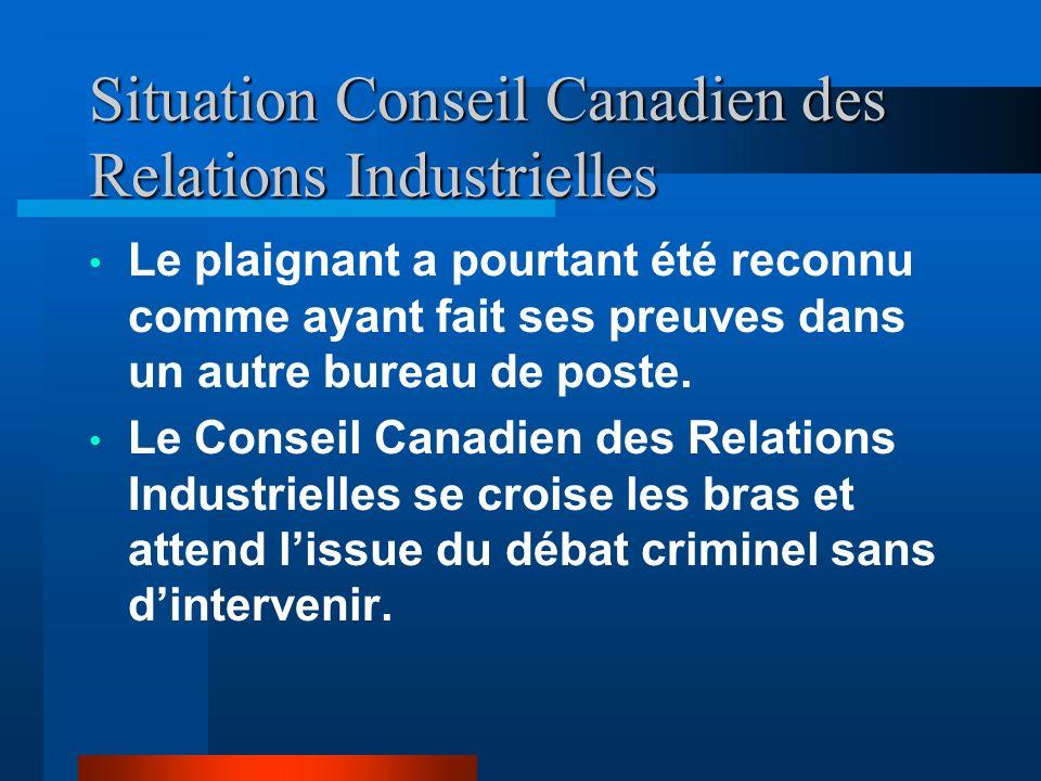 Situation avec la Cour de Joliette Le procureur transforme le conflit de travail en plainte criminelle dirigée contre le plaignant. Le procureur refil