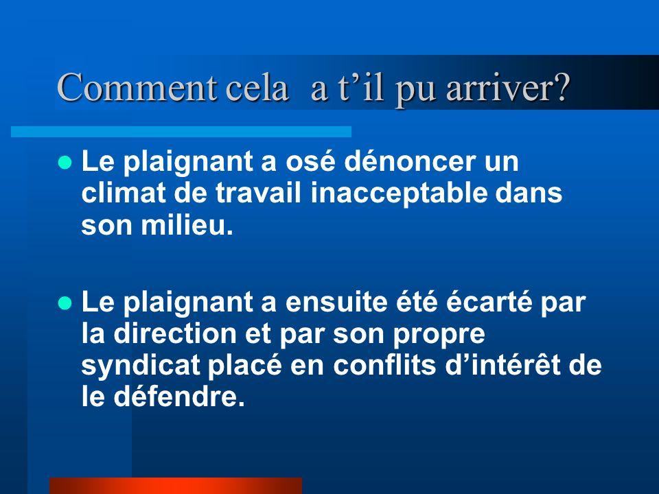 La Situation Michel-Guy St-Onge renonce à son métier de maître-poste adjoint et réclame justice –Il demande à ce quune pré-enquête criminelle puisse f
