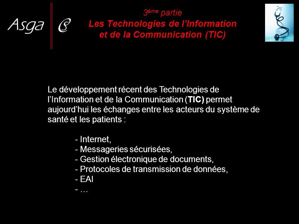 3 ème partie Les Technologies de lInformation et de la Communication (TIC) Le développement récent des Technologies de lInformation et de la Communica