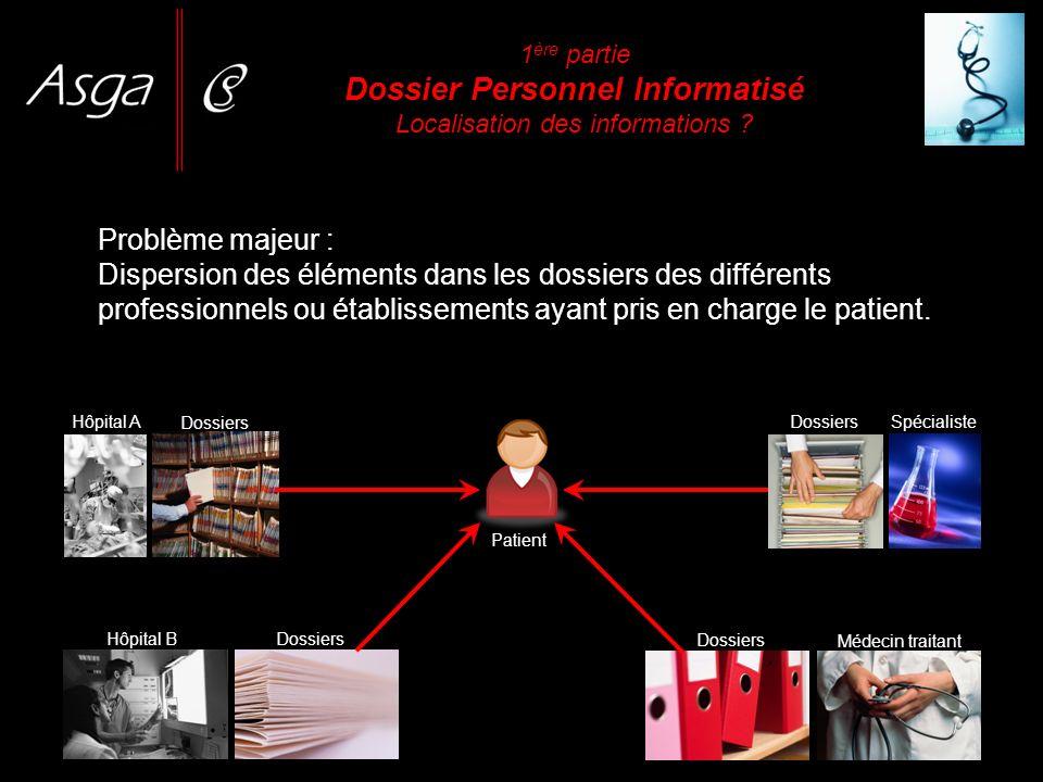 Le Dossier Médical Personnel (DMP) est un dossier médical électronique sécurisé.