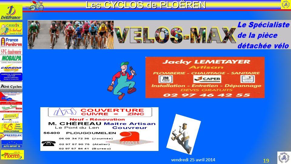 vendredi 25 avril 2014 Les CYCLOS de PLOËREN 19