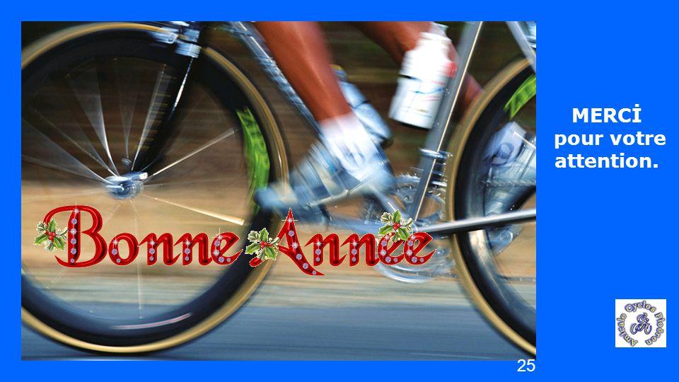 vendredi 25 avril 2014 Les CYCLOS de PLOËREN MERCİ pour votre attention. 25