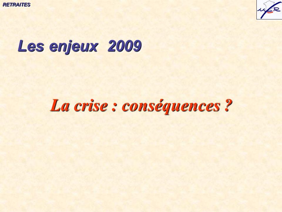 RETRAITESRETRAITES La crise : conséquences Les enjeux 2009