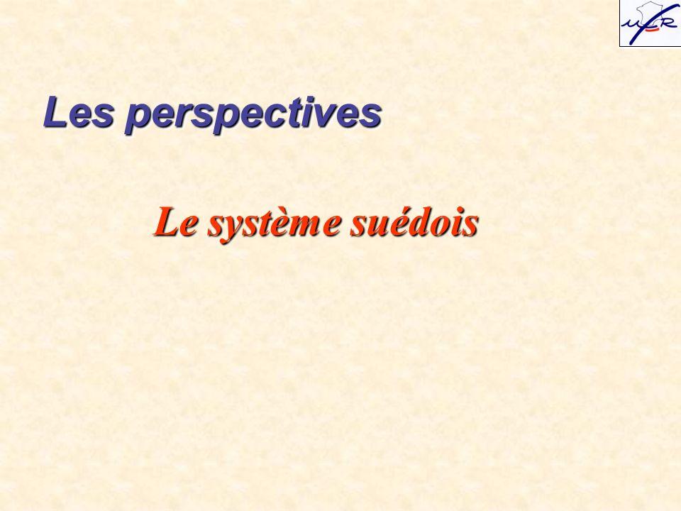 Le système suédois Les perspectives