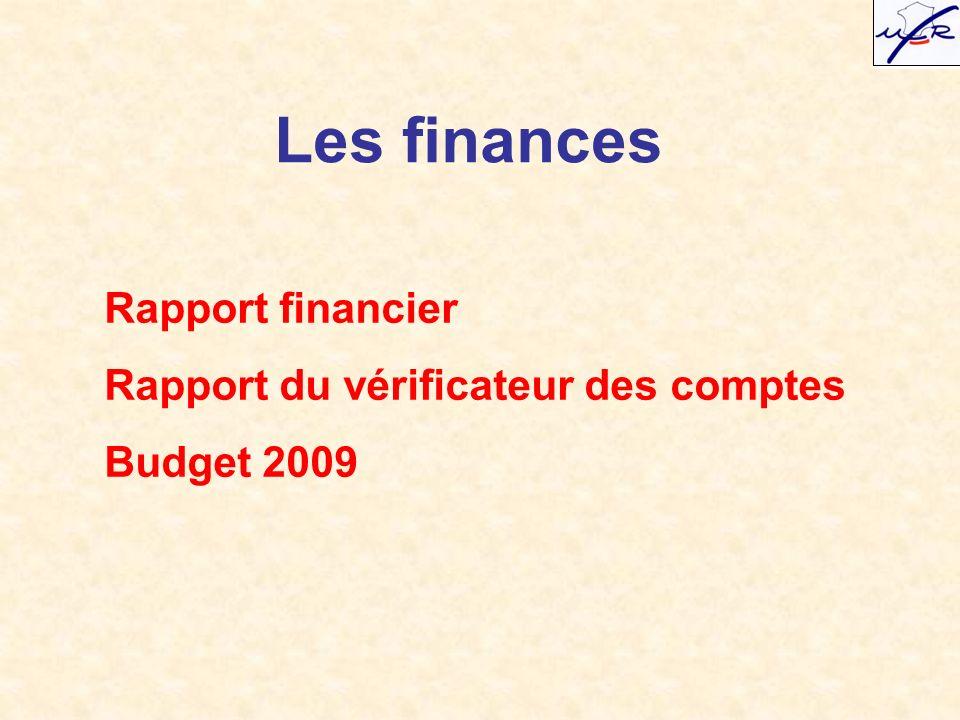 Les finances Rapport financier Rapport du vérificateur des comptes Budget 2009