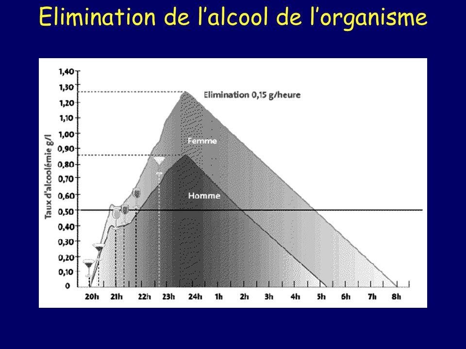 Elimination de lalcool de lorganisme