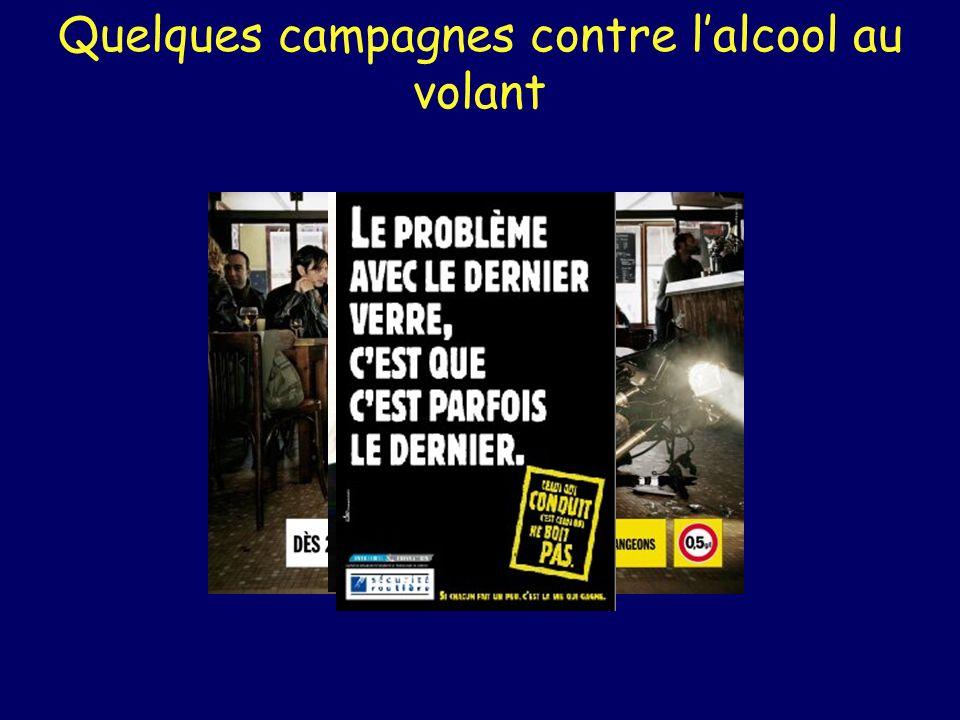 Quelques campagnes contre lalcool au volant