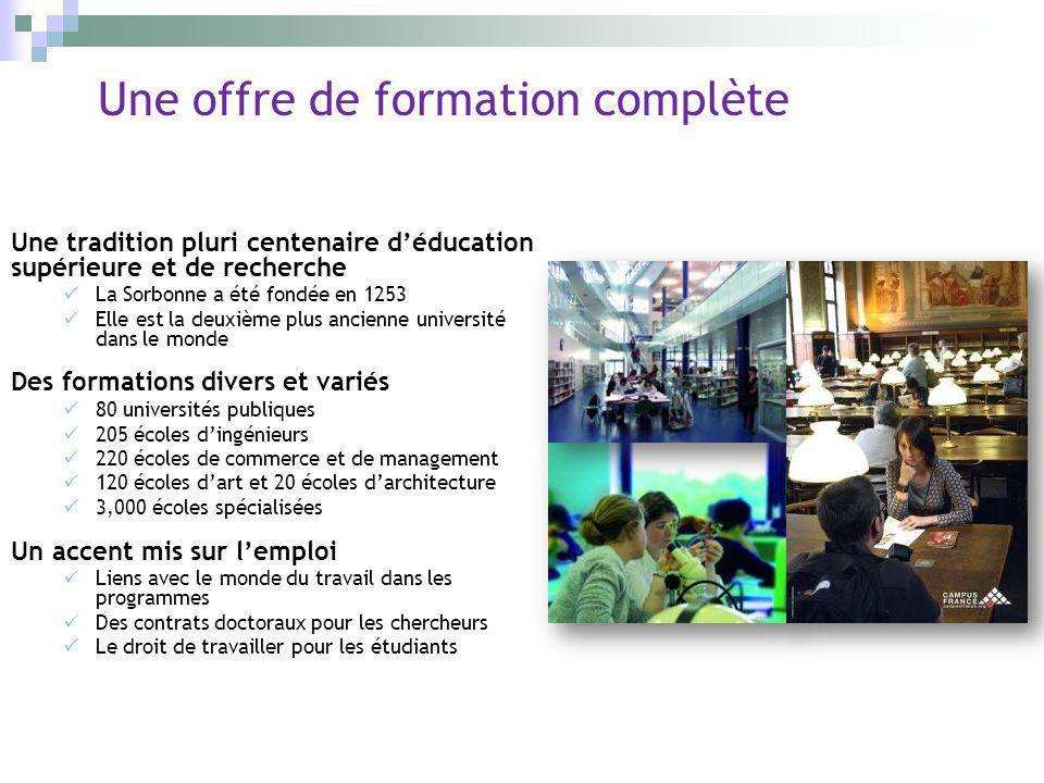 Une offre de formation complète Une tradition pluri centenaire déducation supérieure et de recherche La Sorbonne a été fondée en 1253 Elle est la deux