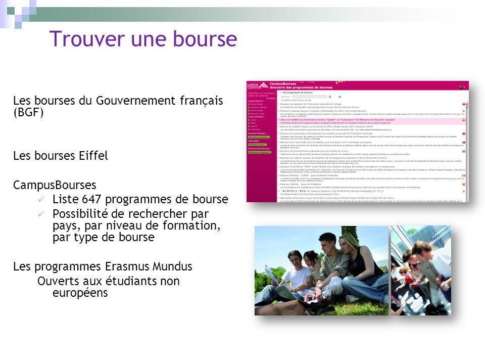 Trouver une bourse Les bourses du Gouvernement français (BGF) Les bourses Eiffel CampusBourses Liste 647 programmes de bourse Possibilité de recherche