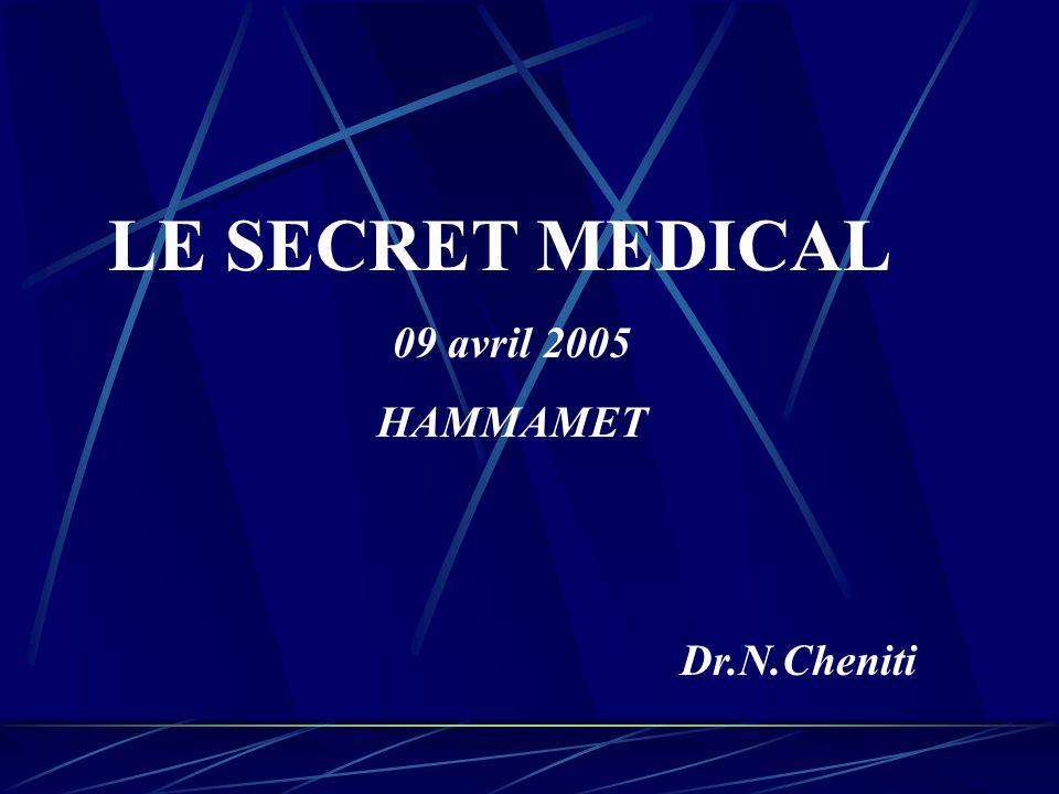 La Loi seule peut obliger un médecin à divulguer le Secret médical.