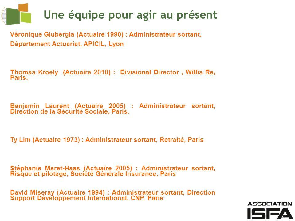 Véronique Giubergia (Actuaire 1990) : Administrateur sortant, Département Actuariat, APICIL, Lyon Thomas Kroely (Actuaire 2010) : Divisional Director, Willis Re, Paris.