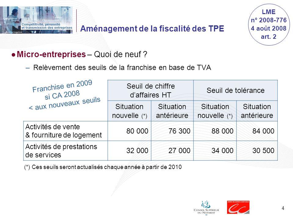 5 Aménagement de la fiscalité des TPE En quoi consiste le statut dauto-entrepreneur .