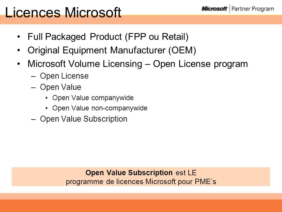 Question Est-ce que Open Value Companywide 2008 permet une combinaison de Office Professional Plus et de Office Enterprise.