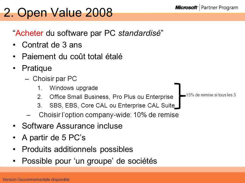 Scenario 1 PME – 150 PCs Windows, Office, EBS