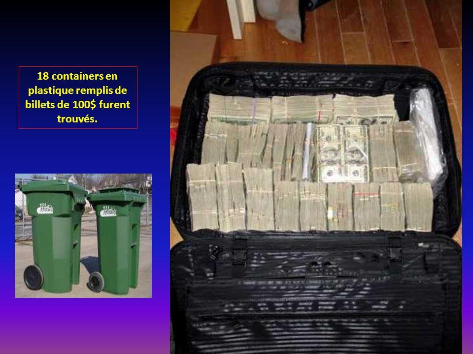 Cette valise remplie de billets de 100$ et estimée a ½ million de dollars était sans aucun doute destinée a servir pour un deal de drogue probablement