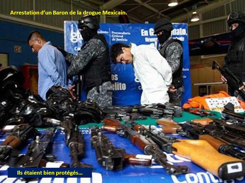 Arrestation dun Baron de la drogue Mexicain. Ils étaient bien protégés…