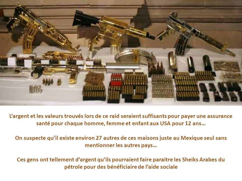 Également trouvé: Une collection dobjets dart exotiques dont plusieurs étaient détenus illégalement ou tout simplement volés.