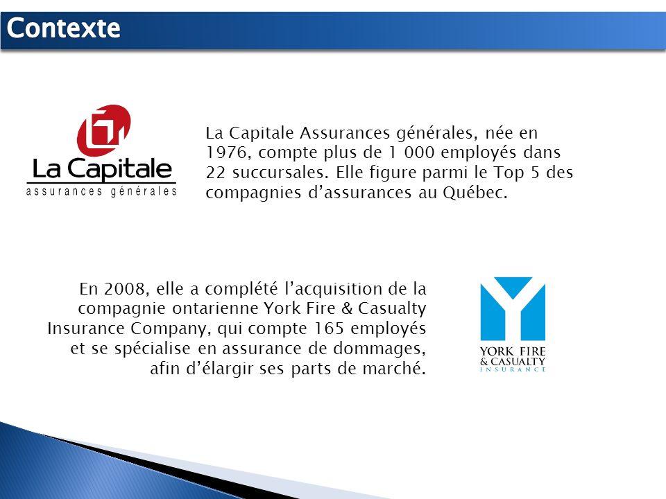 La Capitale Assurances générales, née en 1976, compte plus de 1 000 employés dans 22 succursales. Elle figure parmi le Top 5 des compagnies dassurance