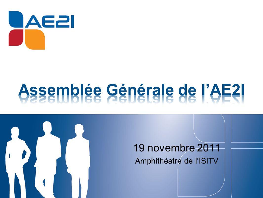 Rappel des actions menées en 2011 Présentation du bilan comptable 2011 Présentation de programme 2012 Election du nouveau Conseil dAdministration Clôture 11 h 00 11 h 05 11 h 10 11 h 30 12 h 00