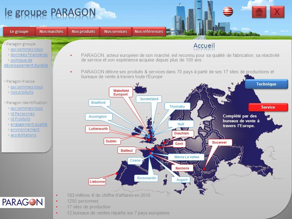 X X Paragon groupe qui sommes nous données financières politique de développement durablepolitique de développement durable Paragon France qui sommes