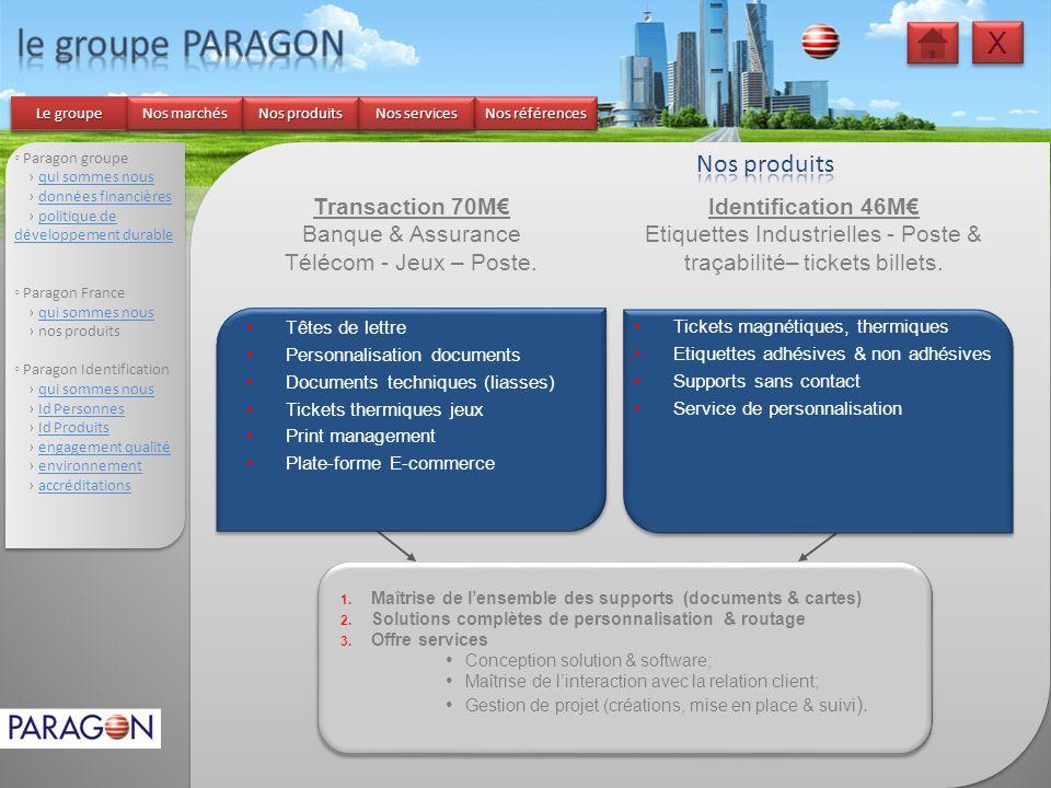 Paragon groupe qui sommes nous données financières politique de développement durablepolitique de développement durable Paragon France qui sommes nous