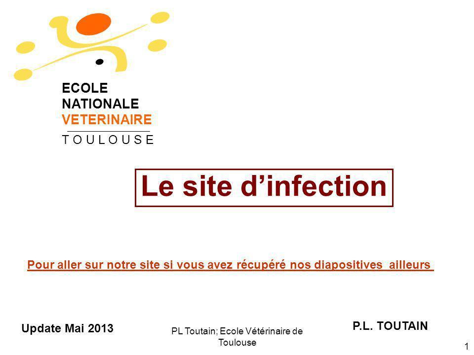 PL Toutain; Ecole Vétérinaire de Toulouse 1 Le site dinfection P.L. TOUTAIN ECOLE NATIONALE VETERINAIRE T O U L O U S E Update Mai 2013 Pour aller sur