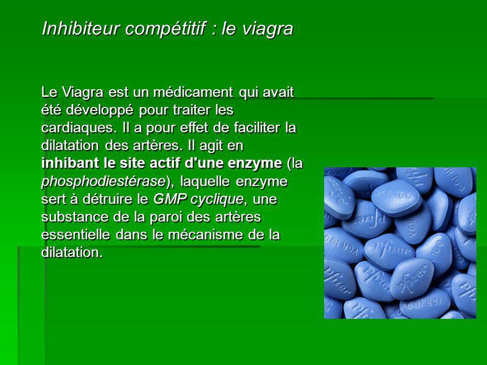 Le Viagra est un médicament qui avait été développé pour traiter les cardiaques. Il a pour effet de faciliter la dilatation des artères. Il agit en in