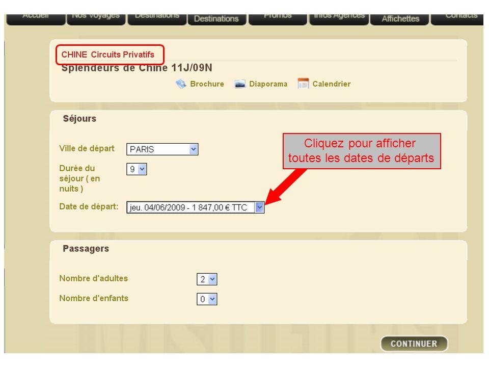 Cliquez pour afficher toutes les dates de départs