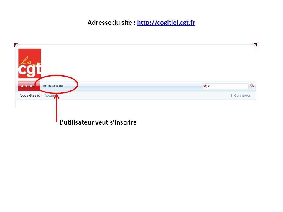 Inscription sur le site Une adresse mail personnelle est indispensable pour pouvoir recevoir des informations pendant linscription ou en cas de changement de statut.