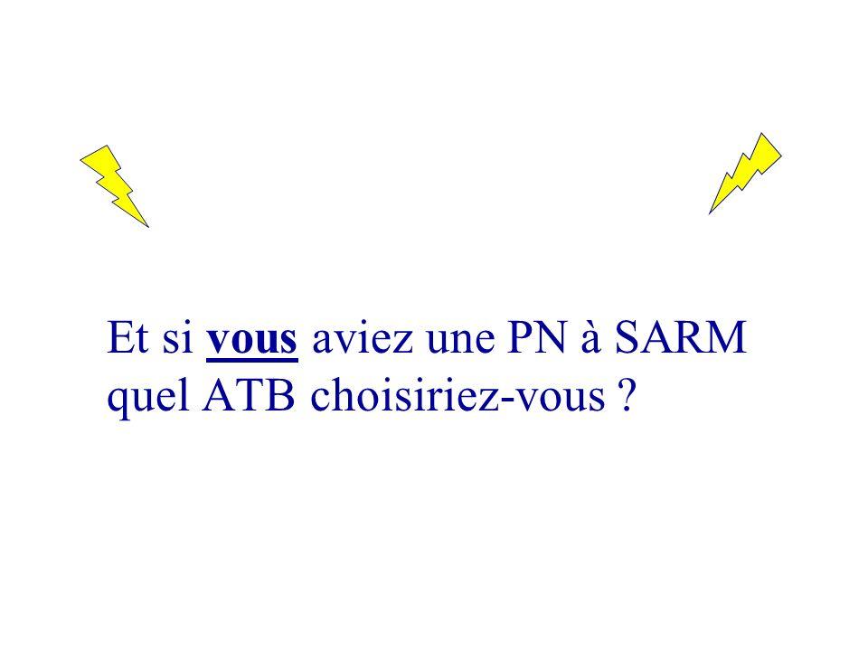 Et si vous aviez une PN à SARM quel ATB choisiriez-vous