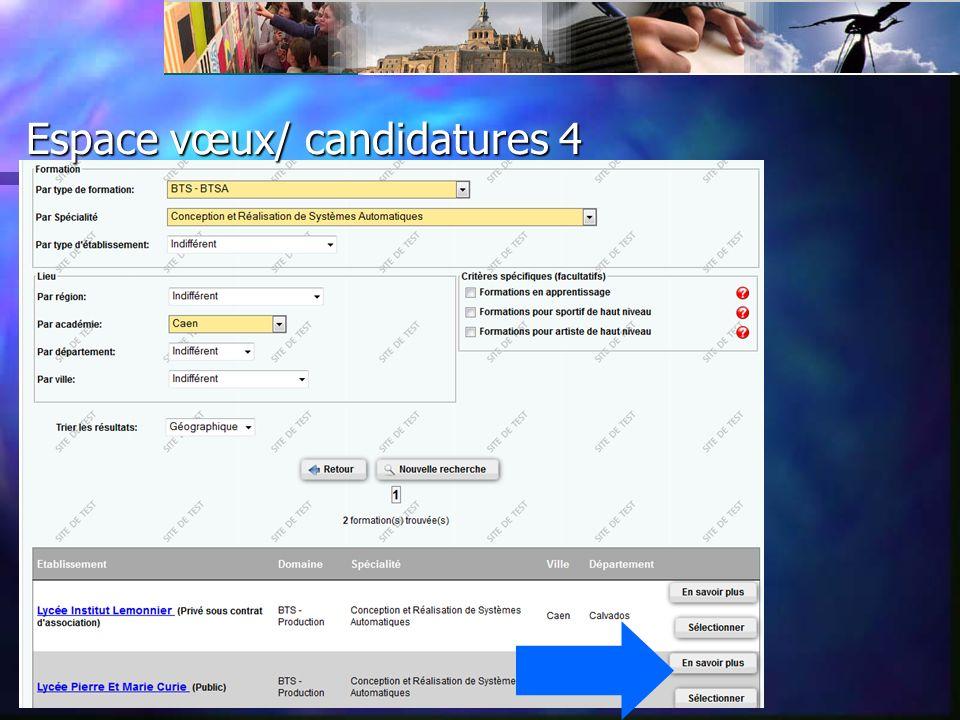 Espace vœux/ candidatures 4