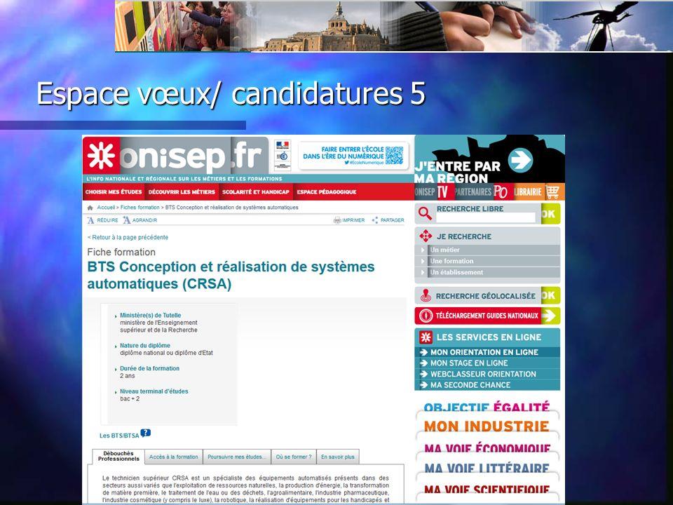 Espace vœux/ candidatures 5
