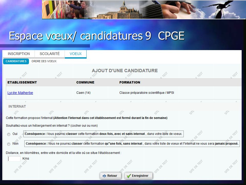 Espace vœux/ candidatures 9 CPGE