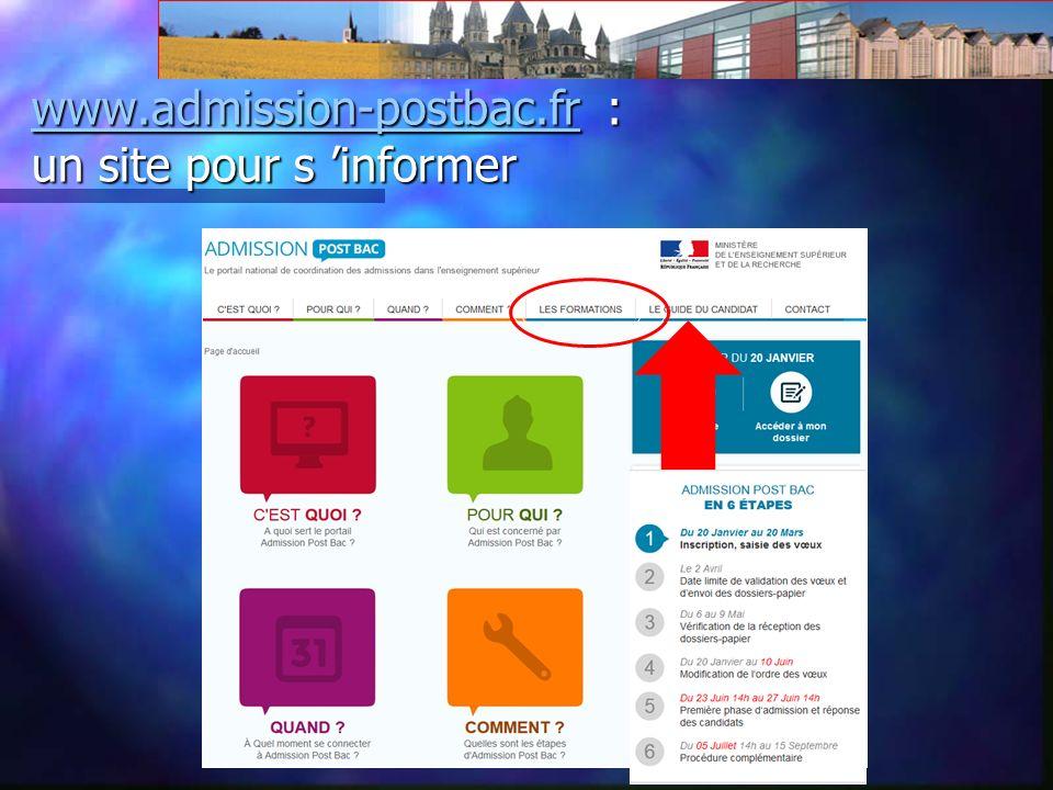 www.admission-postbac.frwww.admission-postbac.fr : un site pour s informer www.admission-postbac.fr