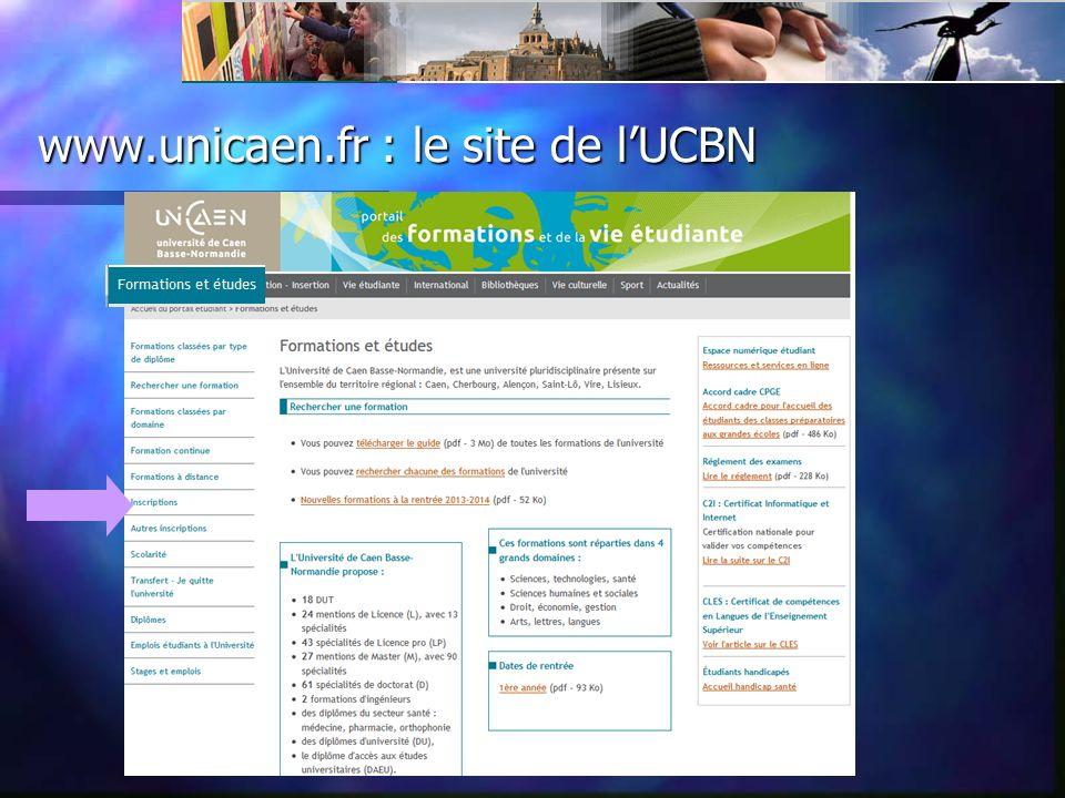 www.unicaen.fr : le site de lUCBN