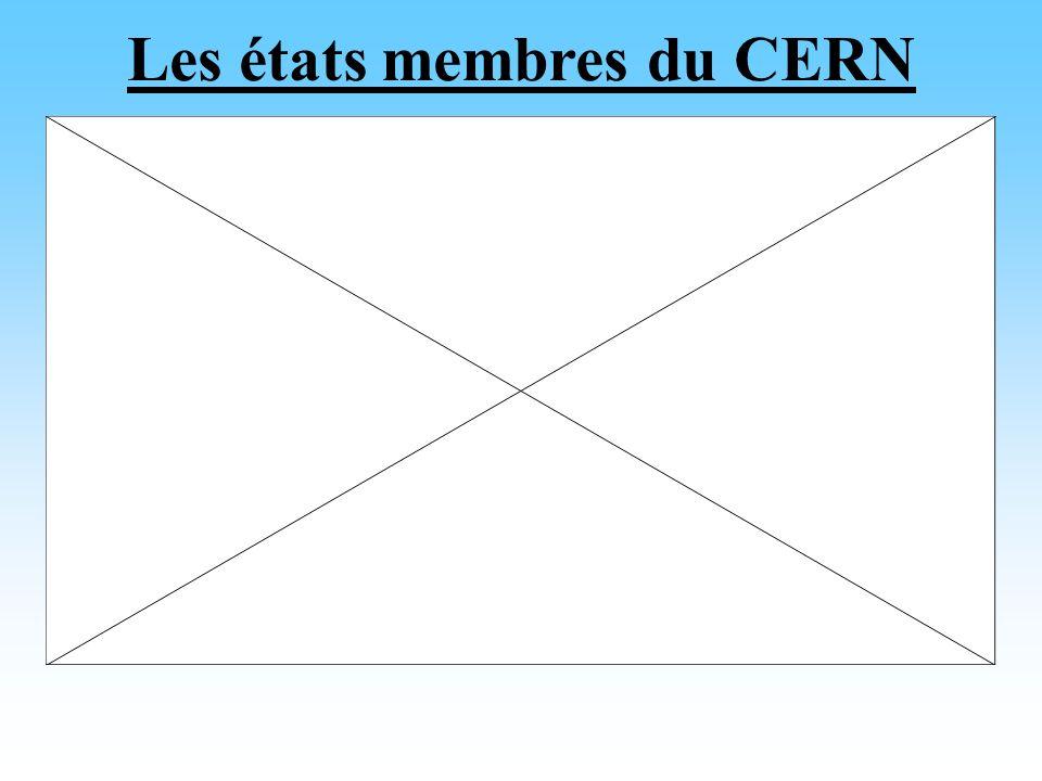 Les états membres du CERN