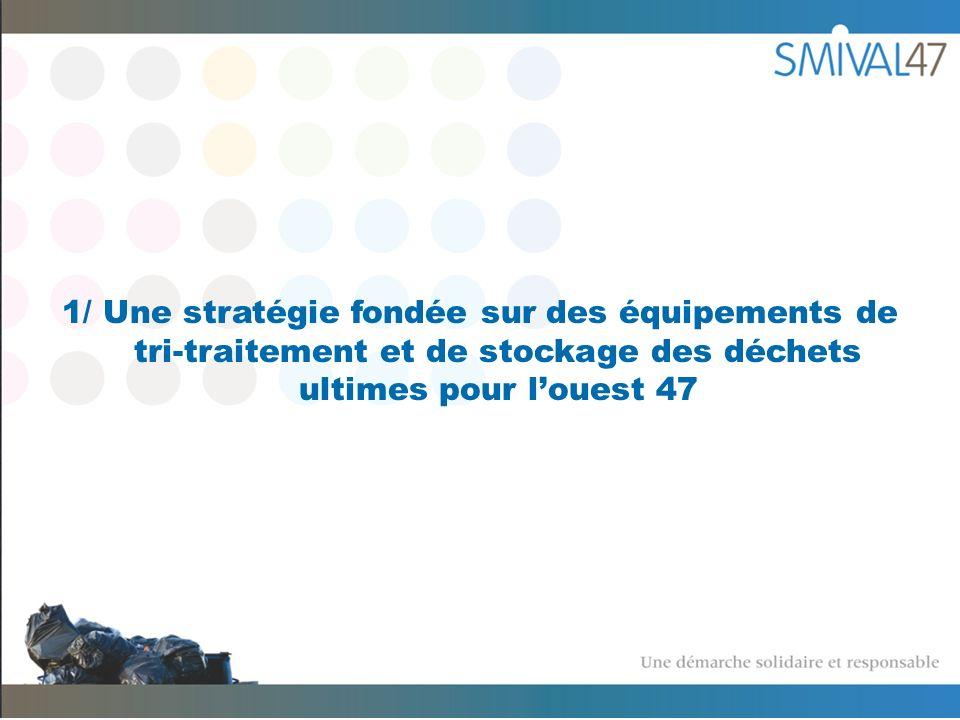 1/ Une stratégie fondée sur des équipements de tri-traitement et de stockage des déchets ultimes pour louest 47