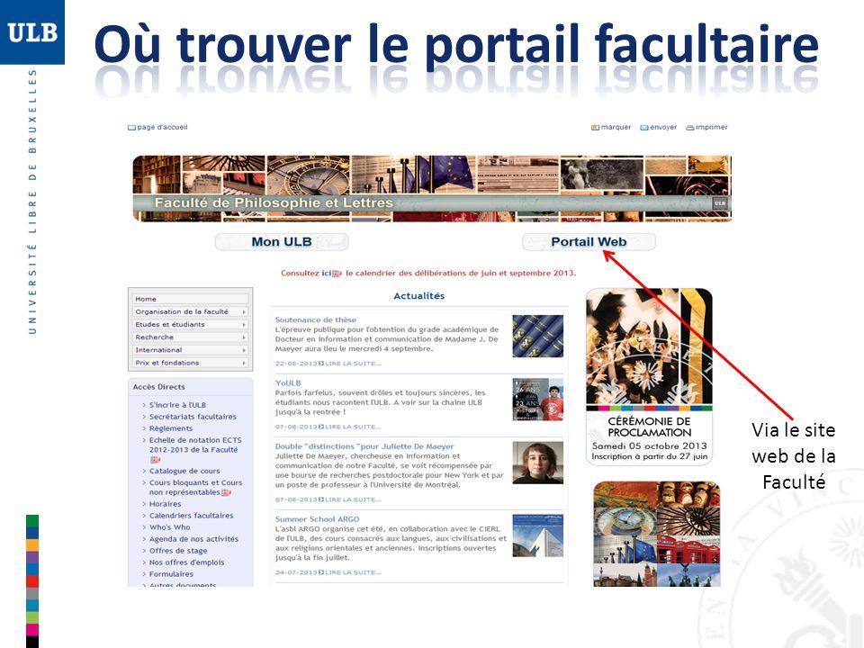 Via le site web de la Faculté
