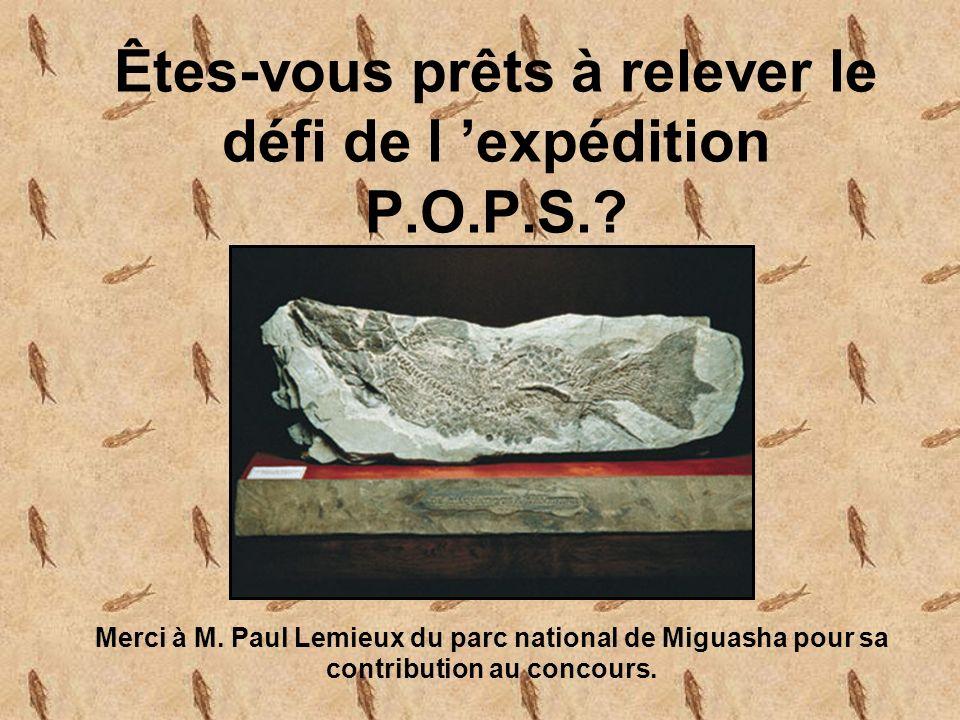Êtes-vous prêts à relever le défi de l expédition P.O.P.S..