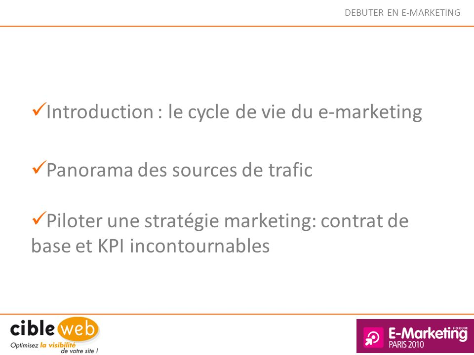 DEBUTER EN E-MARKETING Facebook