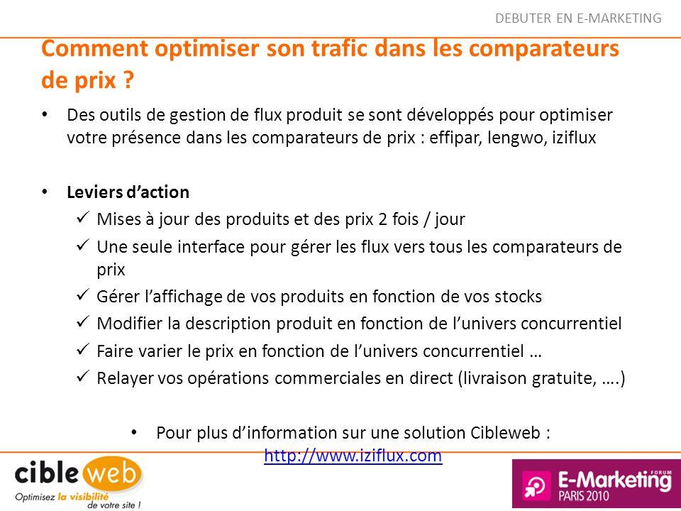 Comment optimiser son trafic dans les comparateurs de prix ? Des outils de gestion de flux produit se sont développés pour optimiser votre présence da