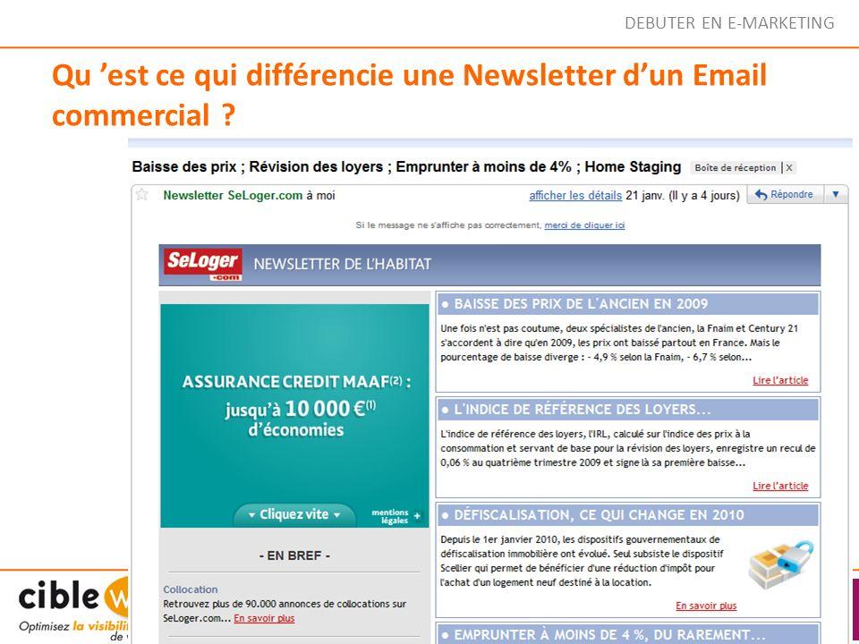 Qu est ce qui différencie une Newsletter dun Email commercial ?