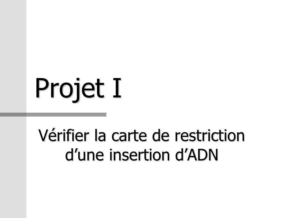 Projet I Vérifier la carte de restriction dune insertion dADN
