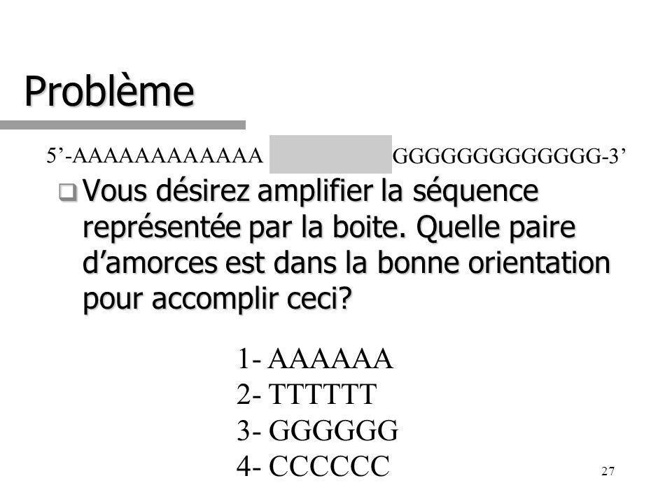 27 Problème Vous désirez amplifier la séquence représentée par la boite.