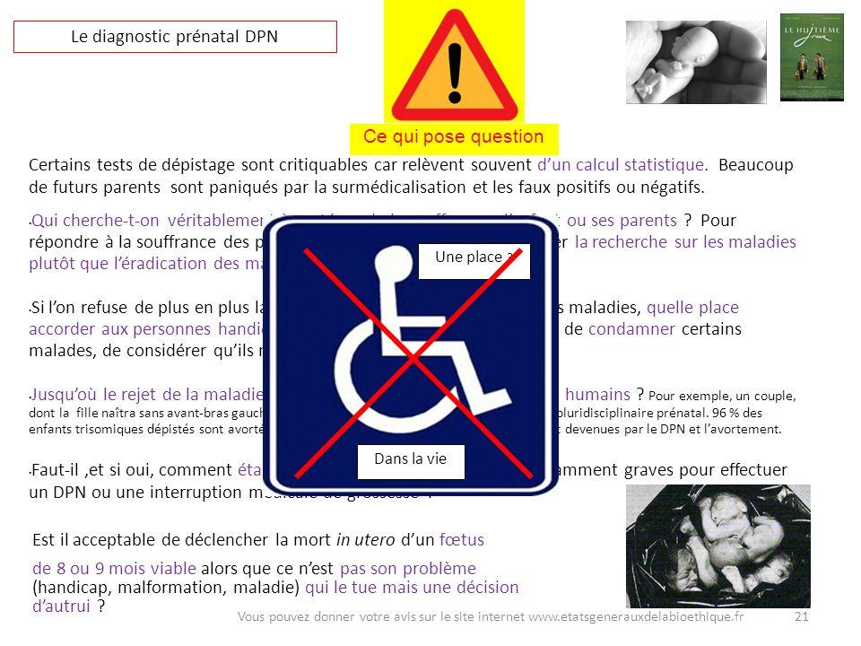 Est il acceptable de déclencher la mort in utero dun fœtus de 8 ou 9 mois viable alors que ce nest pas son problème (handicap, malformation, maladie)