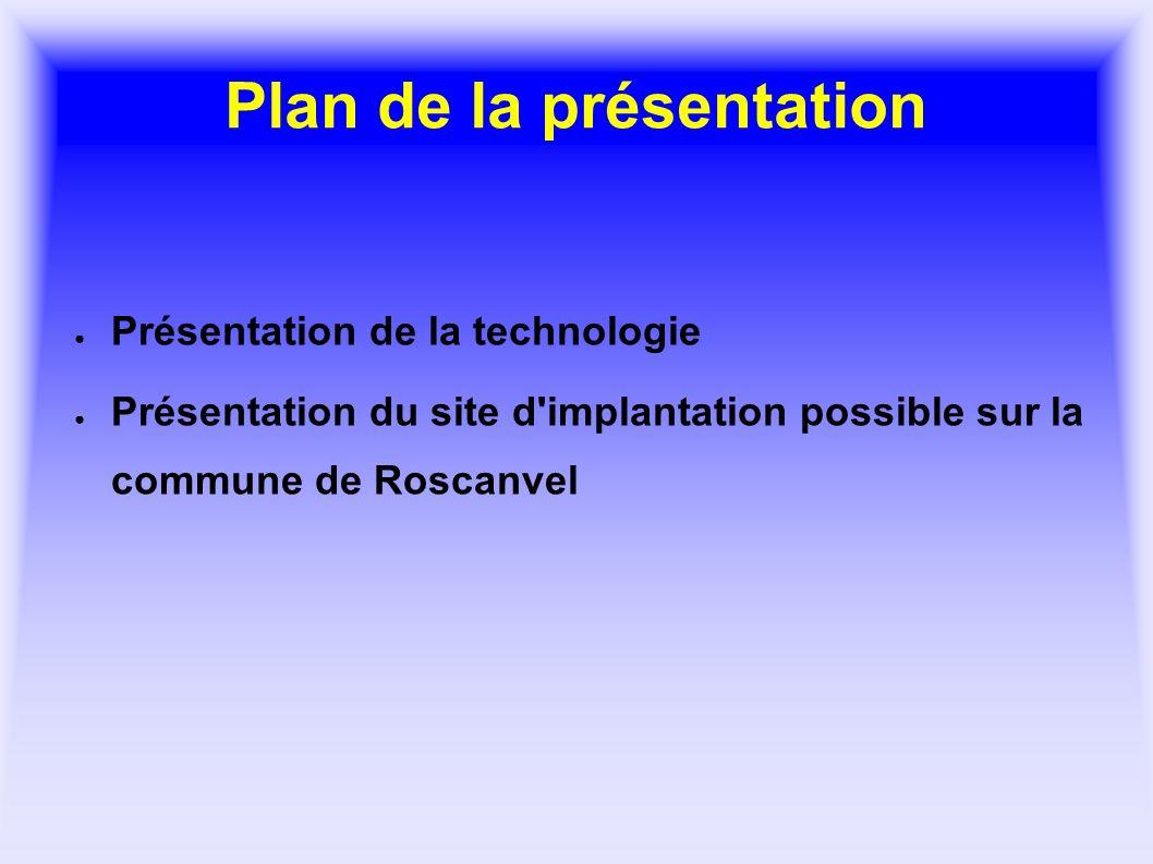 Plan de la présentation Présentation de la technologie Présentation du site d'implantation possible sur la commune de Roscanvel