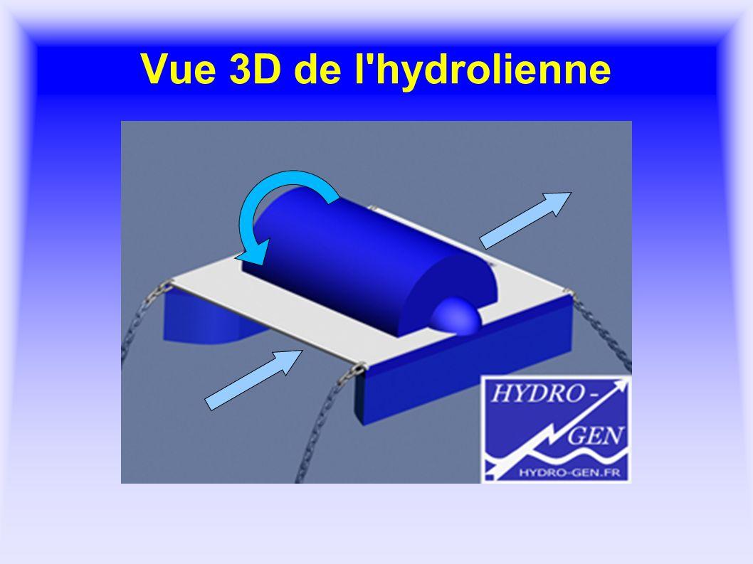 Vue 3D de l'hydrolienne