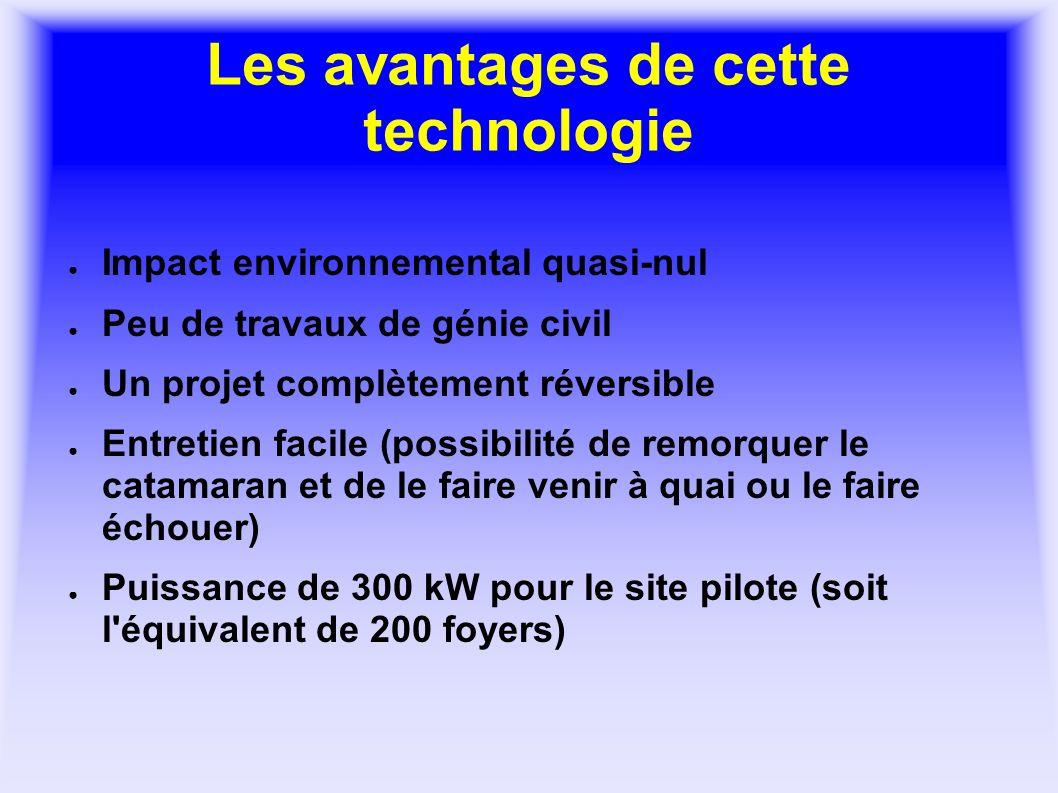Les avantages de cette technologie Impact environnemental quasi-nul Peu de travaux de génie civil Un projet complètement réversible Entretien facile (