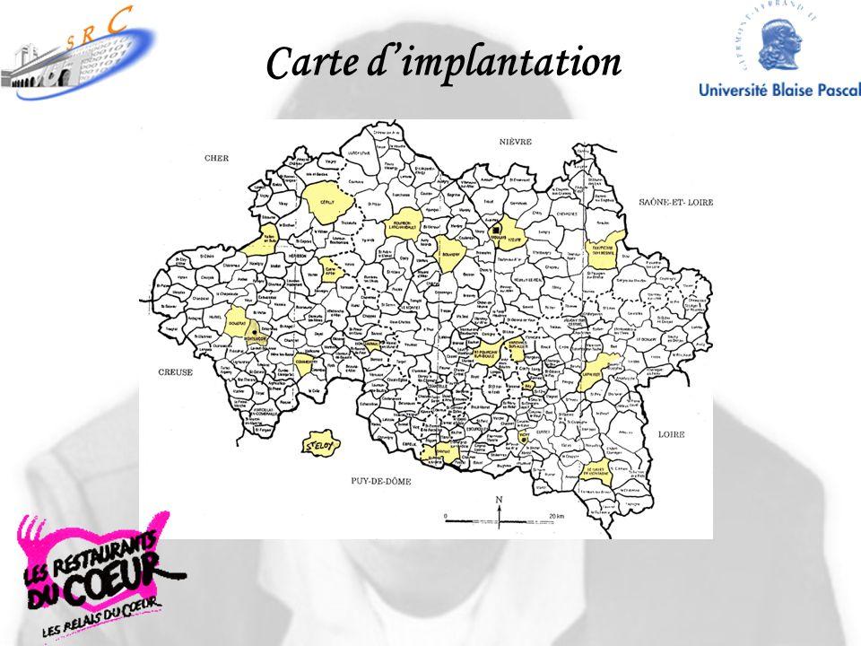 Carte dimplantation