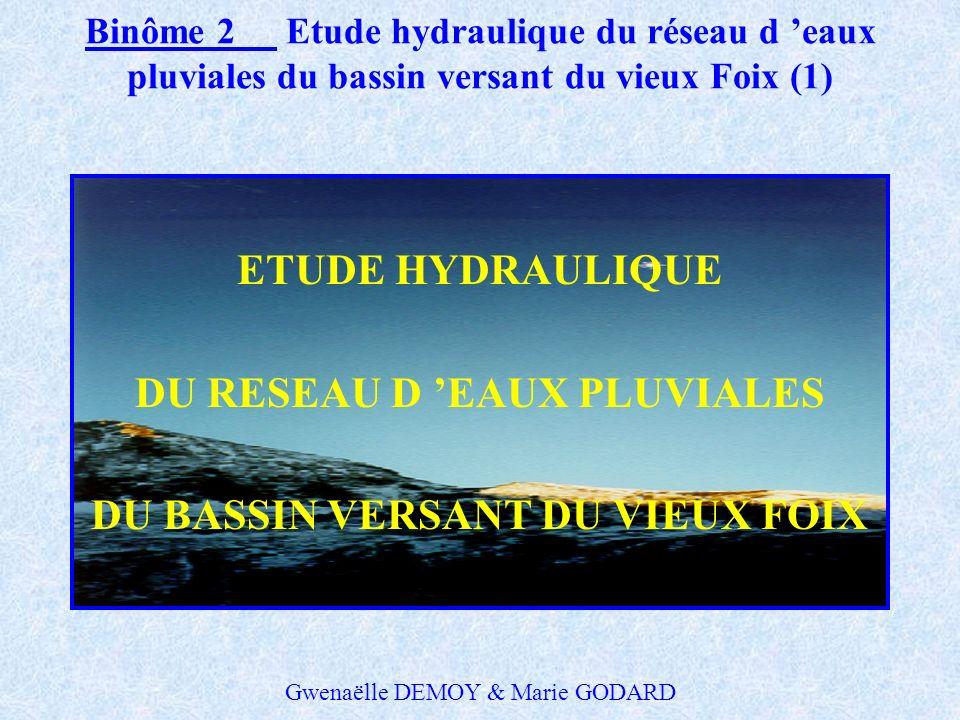 Binôme 1Relations extérieures- Etude du site de Foix (8) PROPOSITIONS D AMENAGEMENTS Outre le redimensionnement des canalisations - création dun nouve